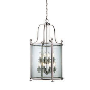 Wyndham Brushed Nickel Eight Light Pendant