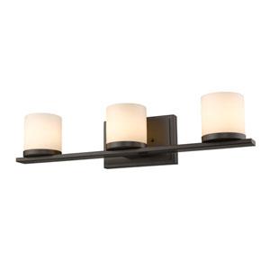 Nori Bronze Three-Light Vanity Fixture