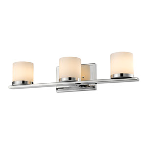 Nori Chrome Three-Light Vanity Fixture