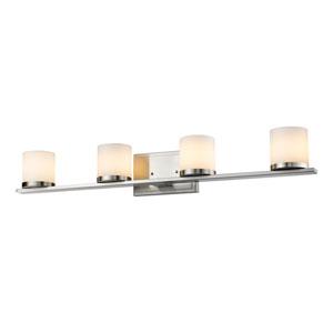 Nori Brushed Nickel Four-Light Vanity Fixture