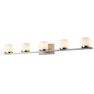 Nori Brushed Nickel Five-Light Vanity Fixture