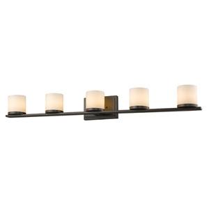 Nori Bronze Five-Light Vanity Fixture