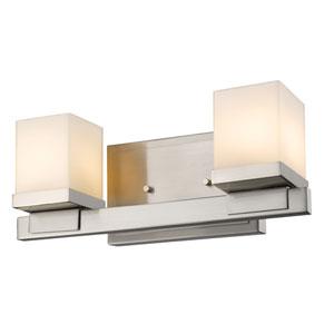 Cadiz Brushed Nickel Two-Light Vanity Fixture