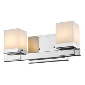 Cadiz Chrome Two-Light Vanity Fixture
