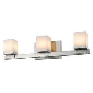 Cadiz Brushed Nickel Three-Light LED Bath Vanity