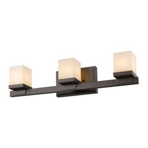 Cadiz Bronze Three-Light LED Bath Vanity