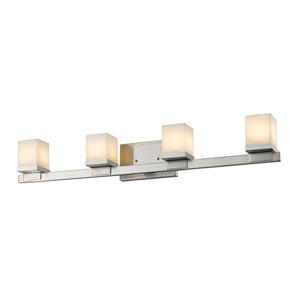 Cadiz Brushed Nickel Four-Light LED Bath Vanity