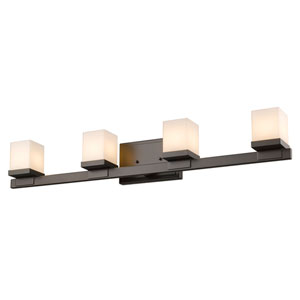 Cadiz Bronze Four-Light Vanity Fixture