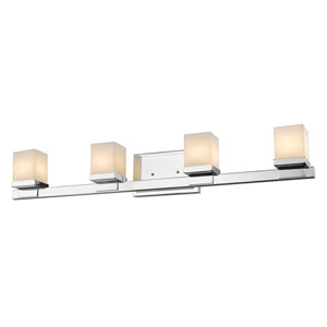 Cadiz Chrome Four-Light LED Bath Vanity