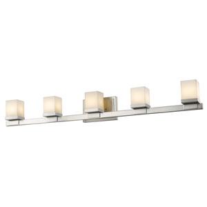 Cadiz Brushed Nickel Five-Light Vanity Fixture