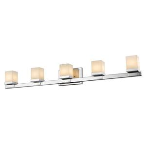 Cadiz Chrome Five-Light Vanity Fixture