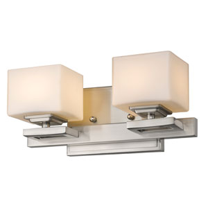 Cuvier Brushed Nickel Two-Light LED Bath Vanity