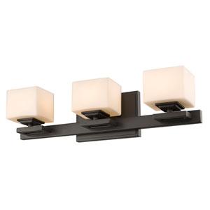 Cuvier Bronze Three-Light Vanity Fixture