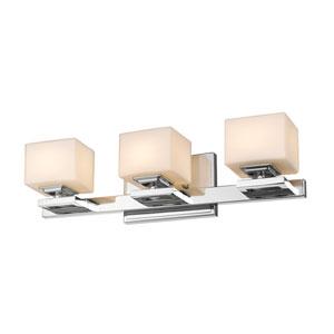 Cuvier Chrome Three-Light Vanity Fixture