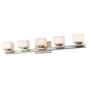 Cuvier Brushed Nickel Five-Light LED Bath Vanity