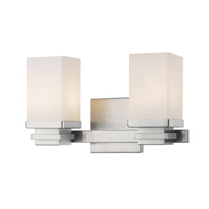 Avige Brushed Nickel Two-Light LED Vanity