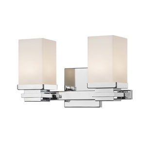 Avige Chrome Two-Light LED Vanity