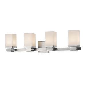 Avige Brushed Nickel Four-Light LED Vanity