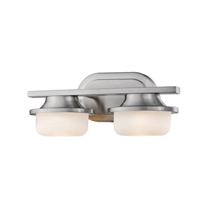 Optum Brushed Nickel Two-Light LED Vanity