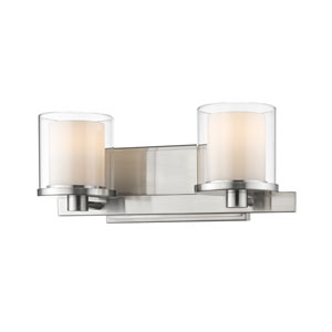 Schema Brushed Nickel Two-Light LED Vanity