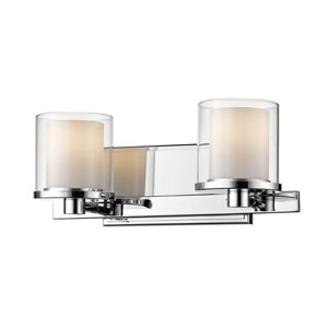 Schema Chrome Two-Light LED Vanity