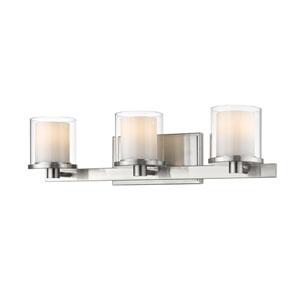 Schema Brushed Nickel Three-Light LED Vanity