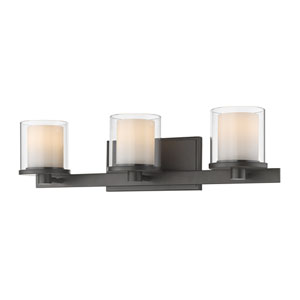 Schema Bronze Three-Light LED Vanity