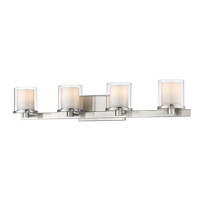 Schema Brushed Nickel Four-Light LED Vanity