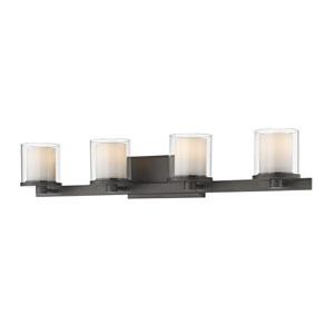 Schema Bronze Four-Light LED Vanity