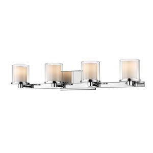 Schema Chrome Four-Light LED Vanity