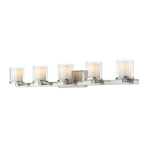 Schema Brushed Nickel Five-Light LED Vanity
