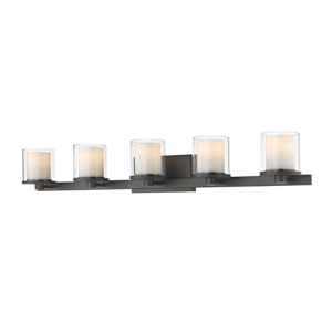 Schema Bronze Five-Light LED Vanity