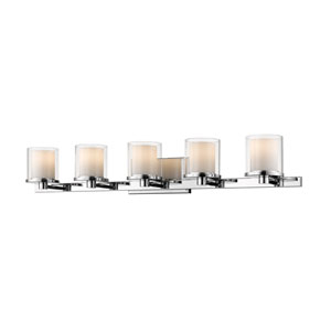 Schema Chrome Five-Light LED Vanity