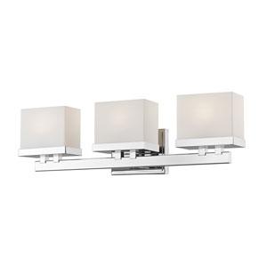 Rivulet Chrome Three-Light LED Bath Vanity