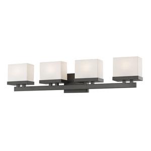 Rivulet Bronze Four-Light LED Bath Vanity