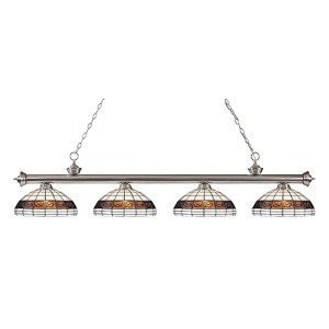 Riviera Brushed Nickel Four-Light Pendant  200-4BN-F14-1