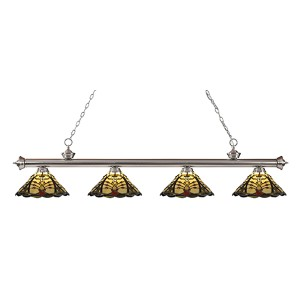 Riviera Brushed Nickel Four-Light Pendant  200-4BN-Z14-46