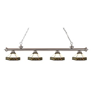 Riviera Brushed Nickel Four-Light Pendant  200-4BN-Z16-30