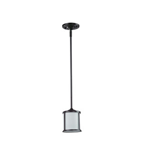 Sonna One-Light Bronze Mini Pendant with Matte Opal Glass Shade