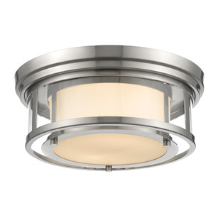 Luna Brushed Nickel Thirteen-Inch Flushmount