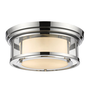 Luna Chrome Thirteen-Inch Flushmount