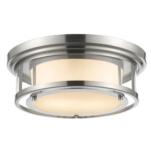 Luna Brushed Nickel Sixteen-Inch Flushmount