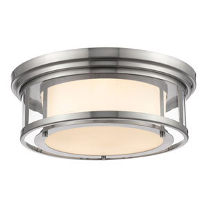 Luna Brushed Nickel Eighteen-Inch Flushmount