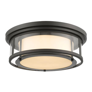 Luna Bronze Eighteen-Inch Flushmount