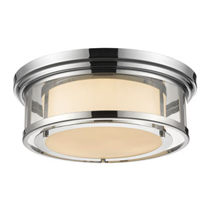 Luna Chrome Eighteen-Inch Flushmount