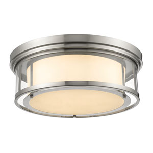 Luna Brushed Nickel Twenty-One-Inch Flushmount