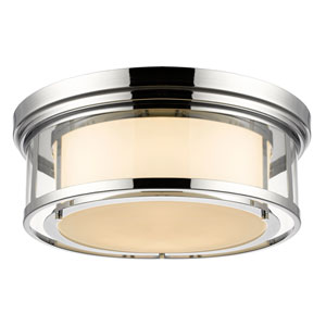 Luna Chrome Twenty-One-Inch Flushmount