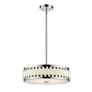 Sevier Chrome Four-Light LED Drum Pendant