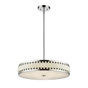 Sevier Chrome Seven-Light LED Drum Pendant