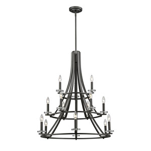 Verona Bronze 15-Light Chandelier